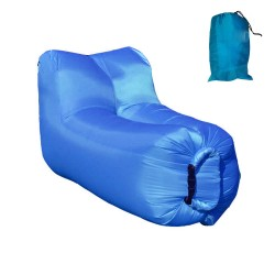 Lazy bag - air sofa fotel niebieski