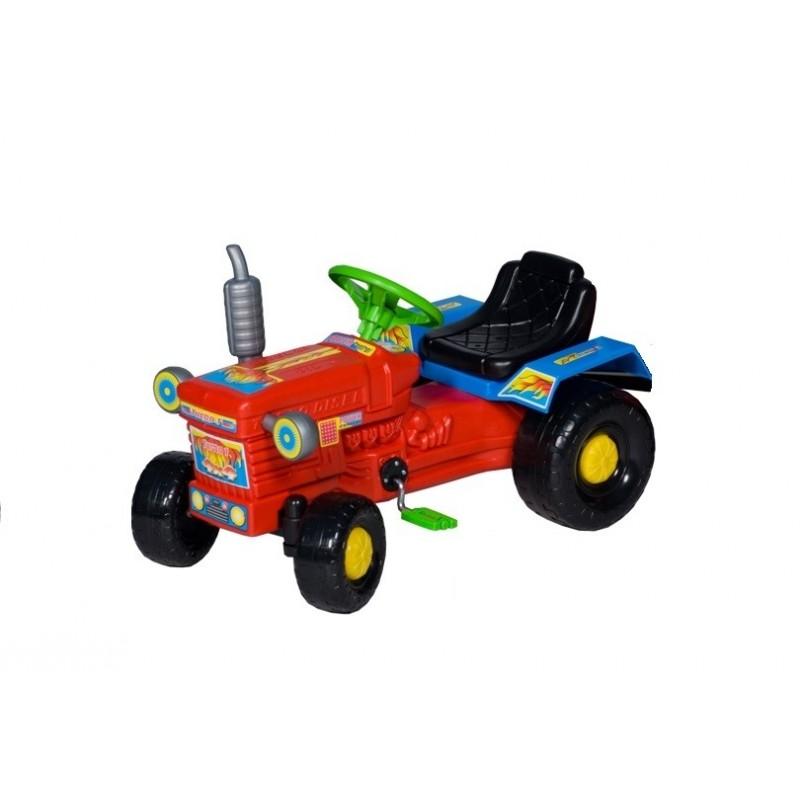 Czerwony traktor na pedały dla dzieci