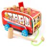 Autobus wbijak drewniany wyskakujące króliki