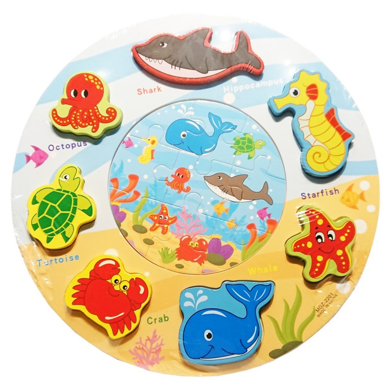 Puzzle kształty okrągłe ocean