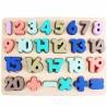 Pastelowa układanka cyfry