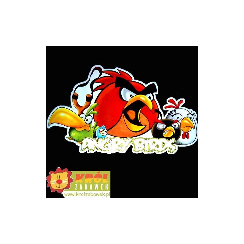 Duża naklejka na ścianę Angry Birds