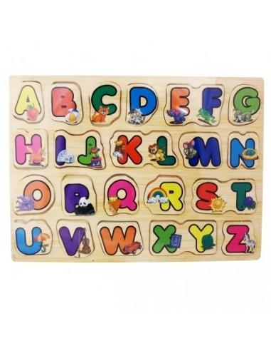 Układanka drewniana alfabet