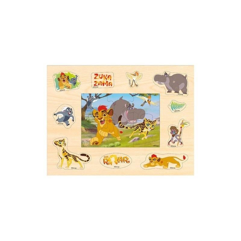 Puzzle układanka drewniana z pinezkami KRÓL LEW Disney